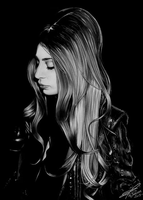 Lady Gaga by greg-drawings